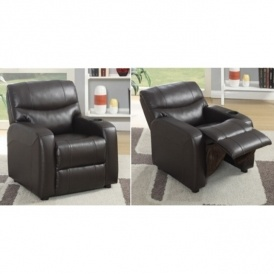 Kid's Leather Recliner Armchair £69.99 Del