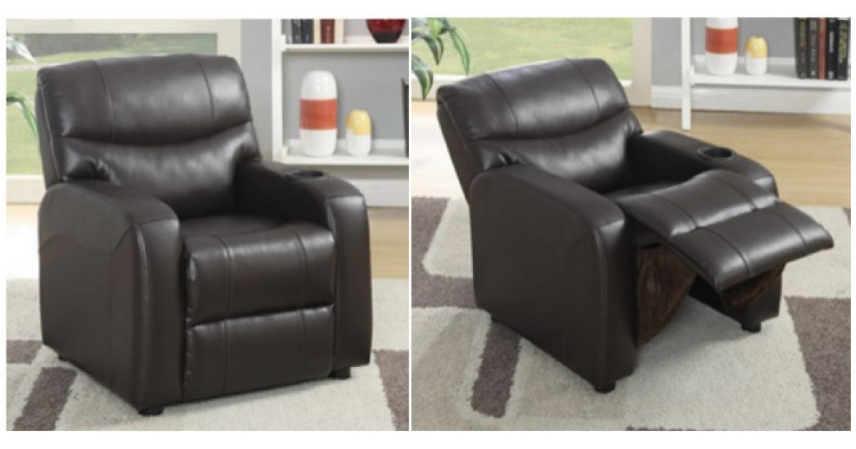 Children S Brown Leather Recliner Armchair 163 69 99 Delivered Costco
