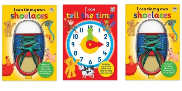 I Can Tie My Own Shoelaces/I Can Tell The Time Books £1.99 @ Amazon