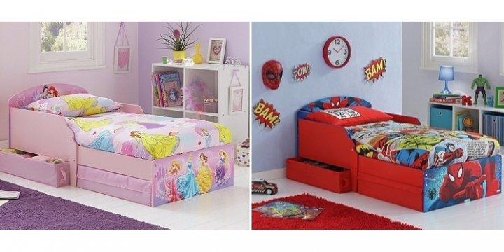 spider man frozen disney princess toddler bed with. Black Bedroom Furniture Sets. Home Design Ideas