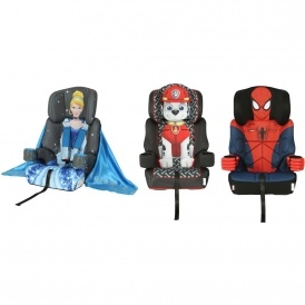 Paw Patrol, Cinderella & Spiderman Car Seats