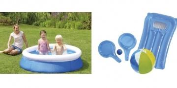 Bestway h2o go double slip and slider 12 asda george for Garden pool tesco