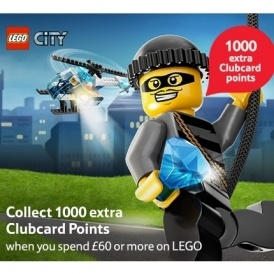 1000 Tesco Clubcard Points WYS £60 on Lego