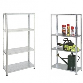 Galvanised Steel 4 Shelf Storage Unit £7.92