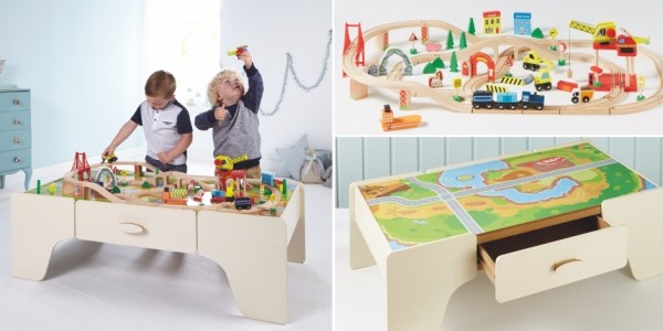 £10 Off Wooden Train Set & Table @ Asda George