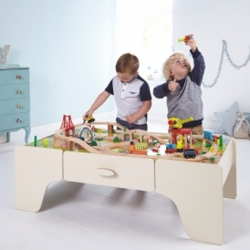 Wooden Train Set & Table £65
