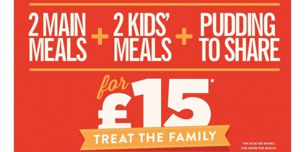Bank Holiday Offer: Treat The Family For £15 @ Hungry Horse