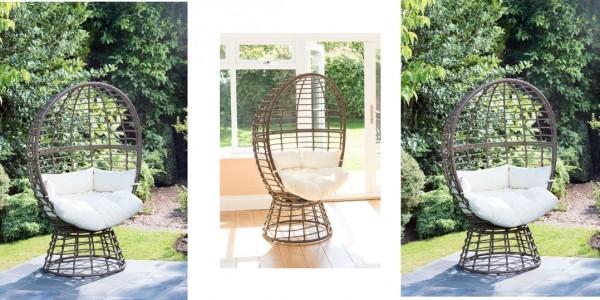 Roma Swivel Egg Chair £69.99 @ B&M
