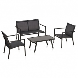 Textilene Lounge Set Charcoal £80 @ Wilko