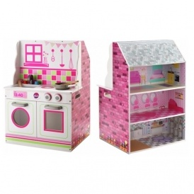 2-in-1 Dolls House & Kitchen Playset £24.99