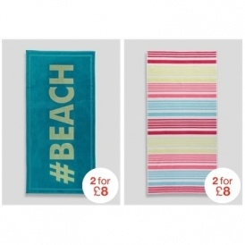 2 For £8 Beach Towels @ Matalan