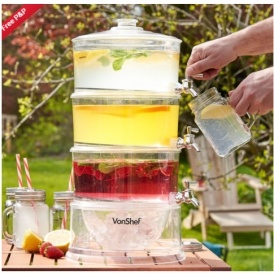 VonShef 3 Tier Party Drinks Dispenser £22.99