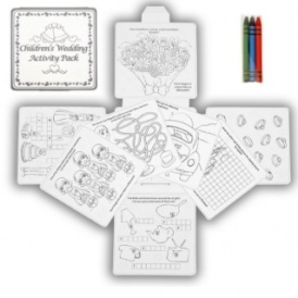 4 Wedding Kid's Activity Pack/Crayons £1.95