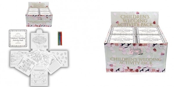 4 Wedding Children's Activity Pack With Crayons £1.95 Delivered @ Amazon Seller: Legs Galore