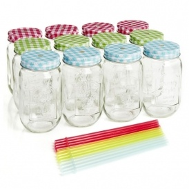Pack Of 12 Mason Clear Drinking Glasses £5