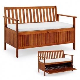 Wooden Garden Storage Bench £79.99 Delivered