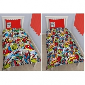 Marvel Comics Single Duvet Cover Set £7.68