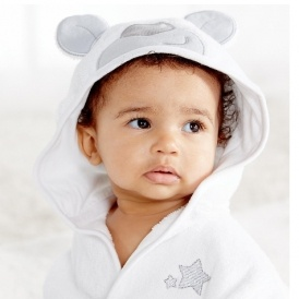 Baby Hooded Bath Robe & Mitt £9.50