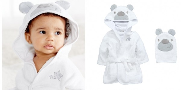 Ladybird Baby Unisex Terry Towelling Bath Robe with Bear Applique Hood and Mitt Set £9.50 @ Littlewoods