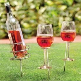 Summit Garden Wine & Glass Holders