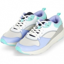 Teens Lilac Colour Block Lace Up Trainers £1