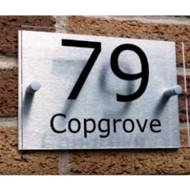 House Number Plaque Aluminium £8.50 Del