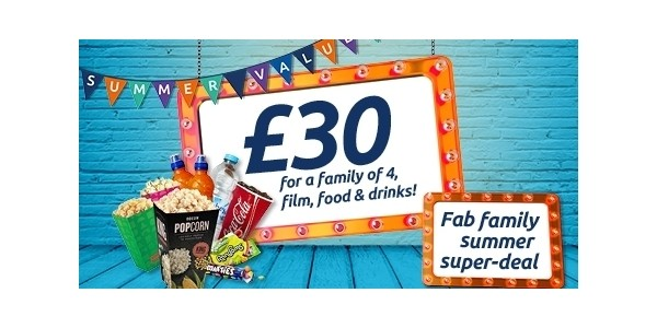 Family Summer Super Deal: Film, Food & Drinks For A Family £25 / £30 @ Odeon
