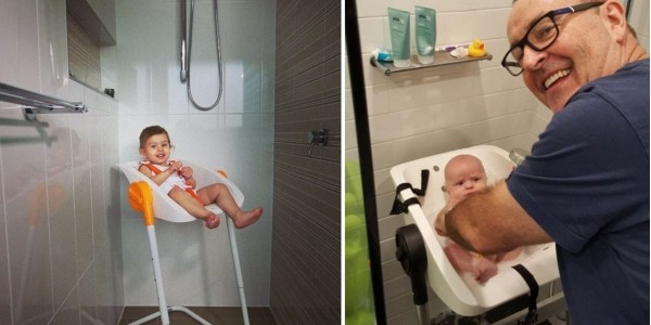 Mum Designs A Shower Chair To Help Mums Bathe Their Babies