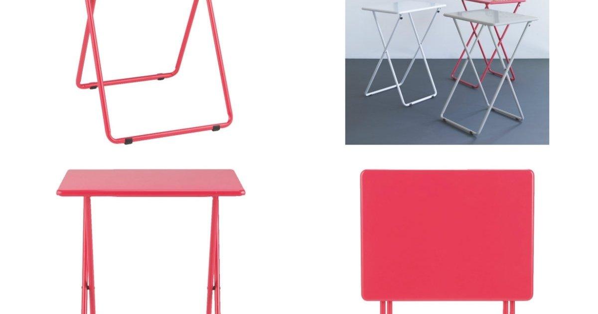 habitat airo folding table pink argos. Black Bedroom Furniture Sets. Home Design Ideas