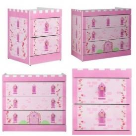 Princess 2 Drawer Bedside Chest £24.44 Del