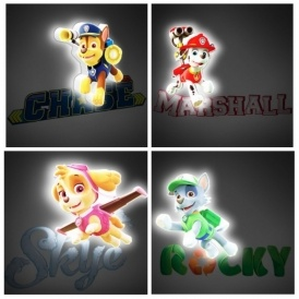Paw Patrol 3D LED Wall Light £12.99 Del