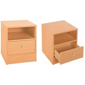 New Malibu 1 Drawer Bedside Chest £12.49