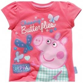 Peppa Pig Girls' Butterfly T-Shirt £1.99