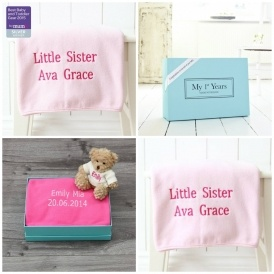 Personalised Pink Fleece Blanket £10