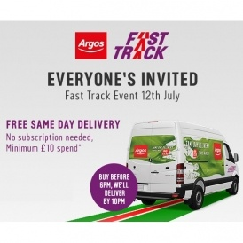 FREE Same Day Delivery @ Argos