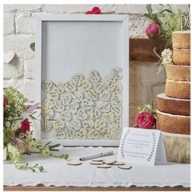 Wooden Wedding Guest Book Frame