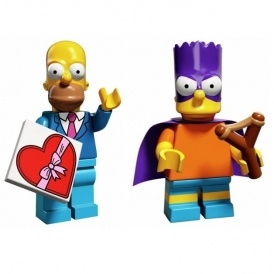 Lego Simpsons Minifigures 99p @ Argos