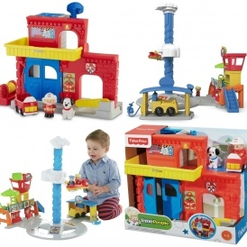 Little People Fire Station/Airport 1/2 Price