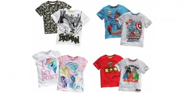 Character T-Shirt 2 Packs £4.99 @ Argos