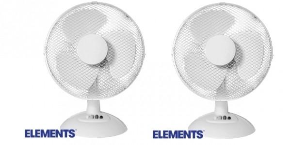 """Elements 12"""" Desk Fan £9.99 + FREE C&C @ Home Bargains"""