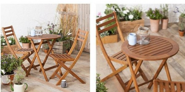 Wooden Garden Bistro Set £33 Delivered @ Tesco Direct (Expired)