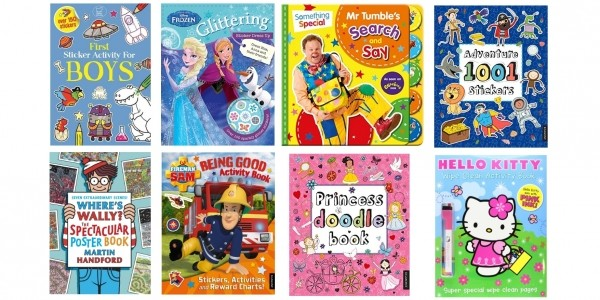 4 For £10 On Kids Activity, Colouring and Sticker Books @ Amazon