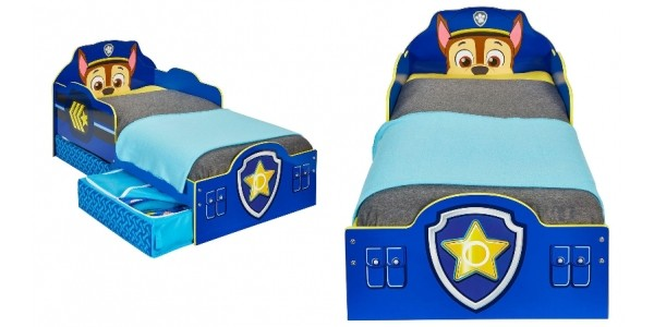 Paw Patrol Chase Toddler Bed With Storage @ Very