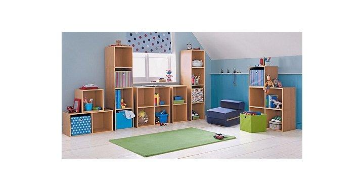 phoenix 1 cube storage unit beech or pink argos. Black Bedroom Furniture Sets. Home Design Ideas