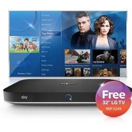 "Free 32"" LG TV or £100 choice of reward"