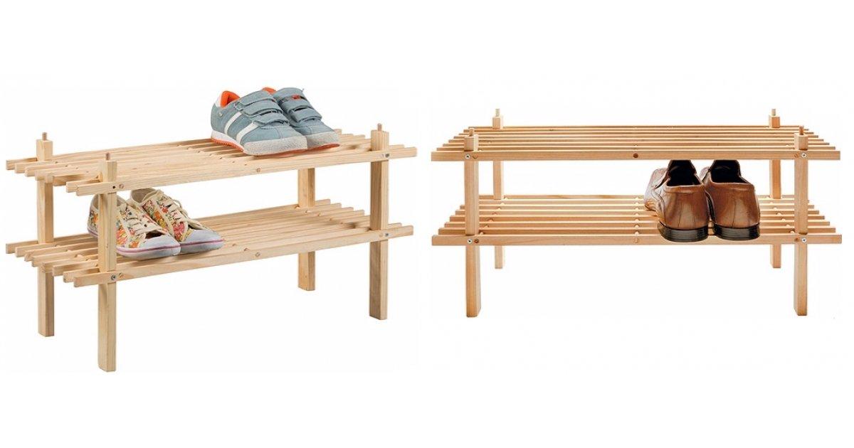 2 shelf solid wooden shoe storage rack argos. Black Bedroom Furniture Sets. Home Design Ideas