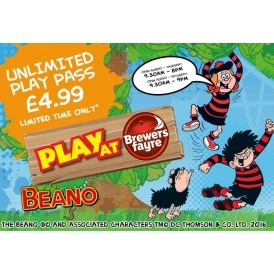 Unlimited Play At Pass £4.99 @ Brewers Fayre