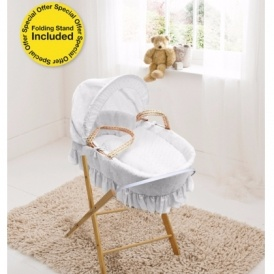 White Moses Basket & Folding Stand £34.89