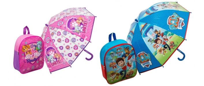 Paw Patrol Backpack and Umbrella Set