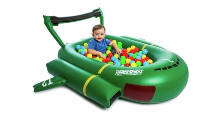 Thunderbird 2 play pool ball pit with free for Garden pool argos